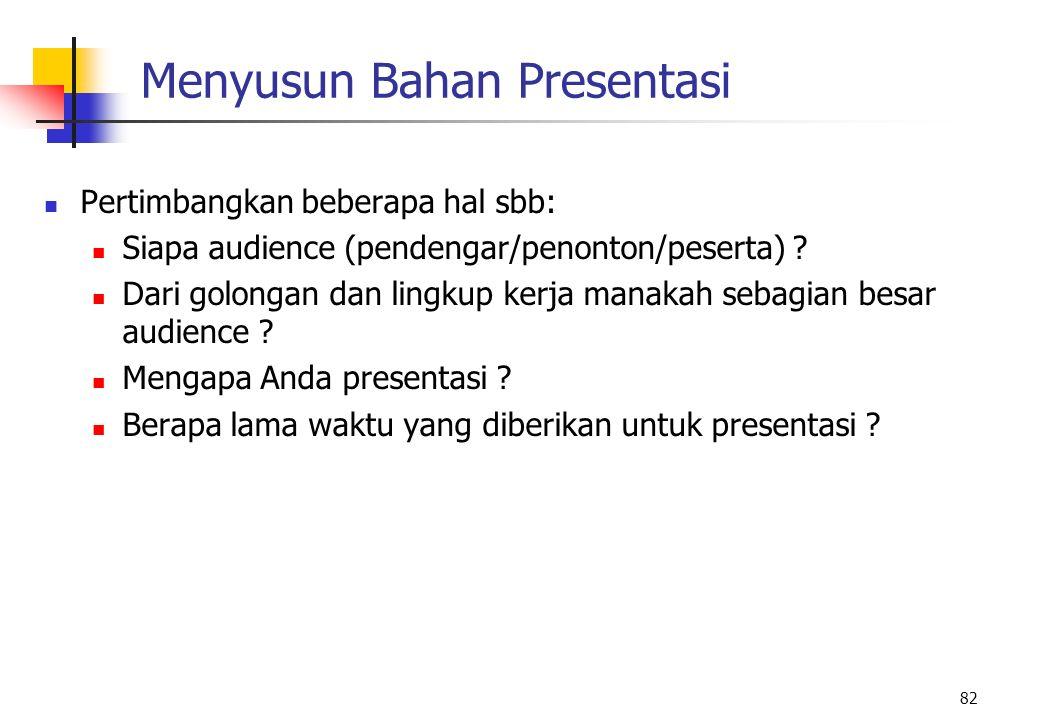 Menyusun Bahan Presentasi