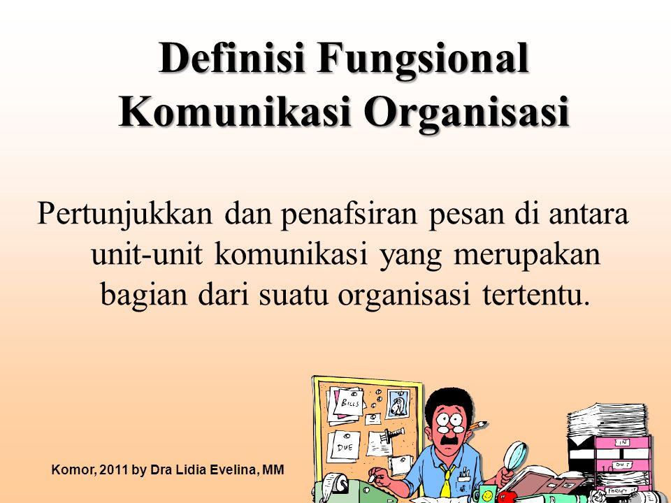 Definisi Fungsional Komunikasi Organisasi