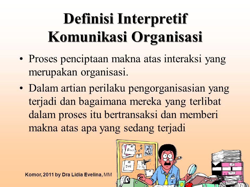 Definisi Interpretif Komunikasi Organisasi