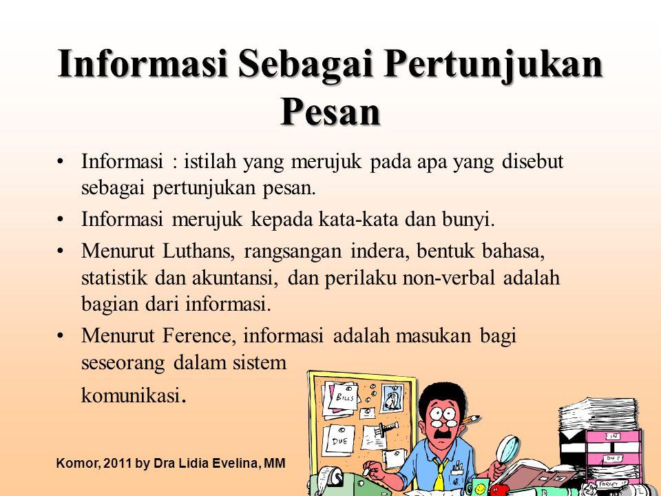 Informasi Sebagai Pertunjukan Pesan