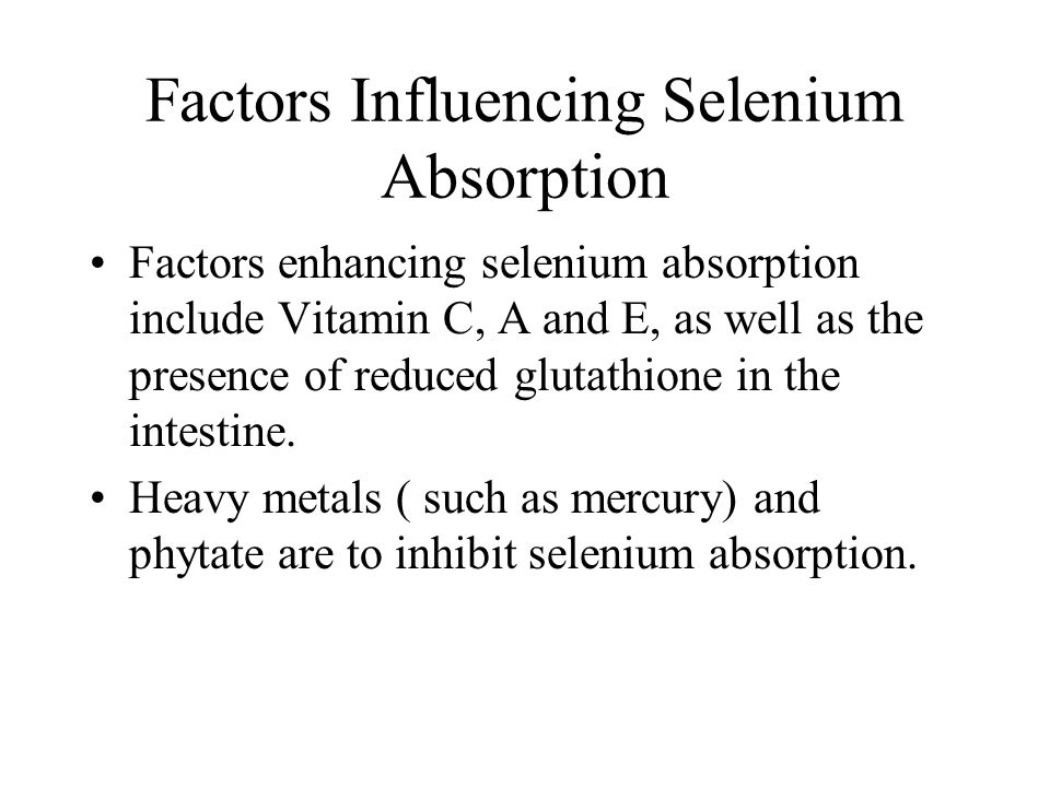 Factors Influencing Selenium Absorption