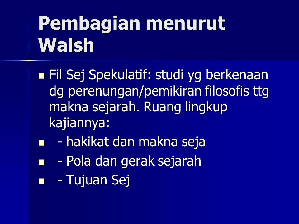 Pembagian menurut Walsh