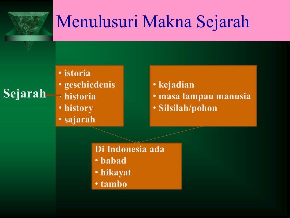 Menulusuri Makna Sejarah