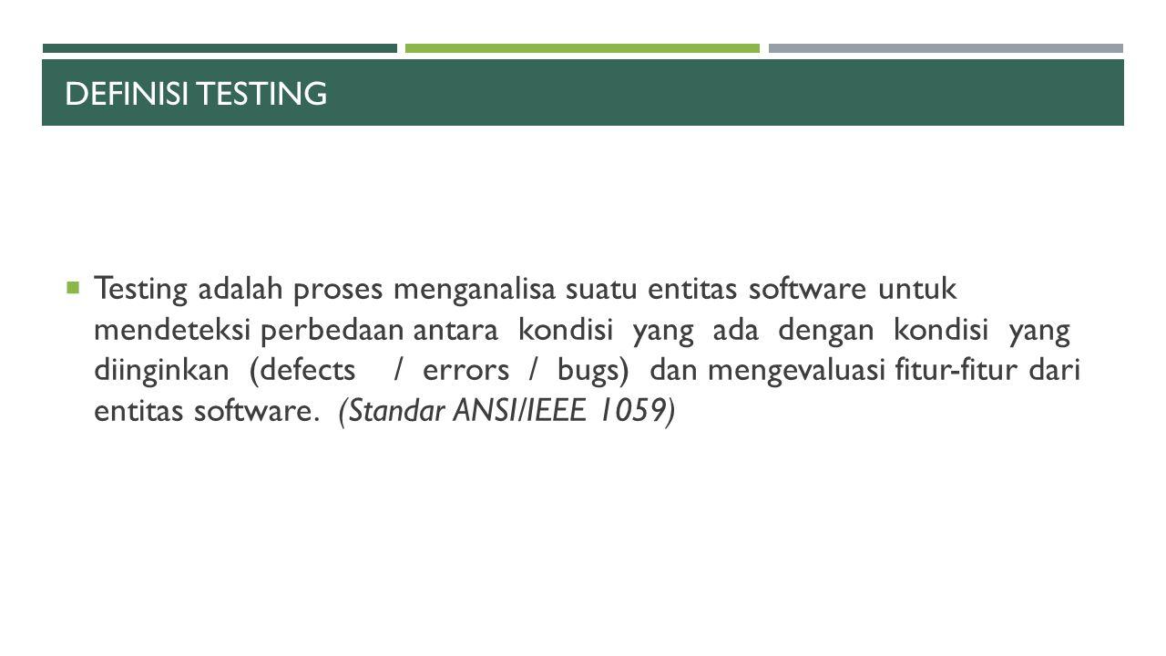 Definisi testing