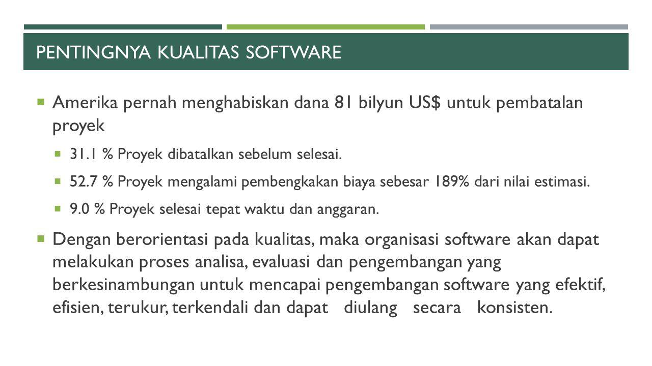 Pentingnya kualitas software