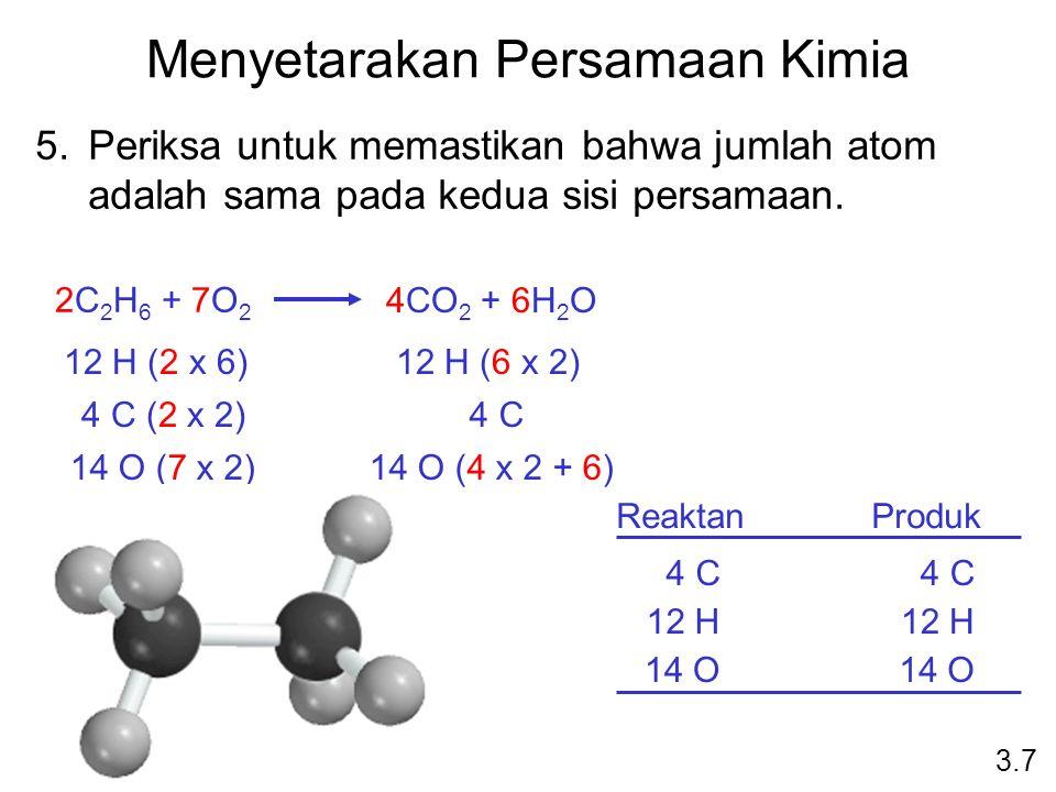 Menyetarakan Persamaan Kimia