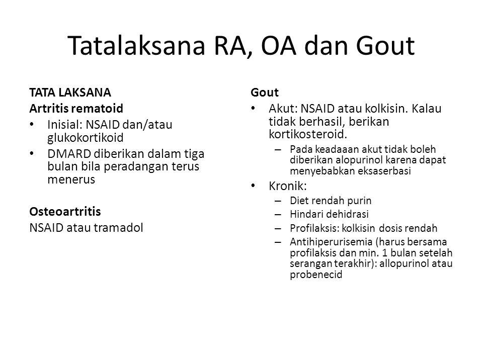 Tatalaksana RA, OA dan Gout