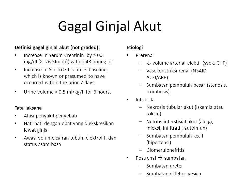 Gagal Ginjal Akut Definisi gagal ginjal akut (not graded):