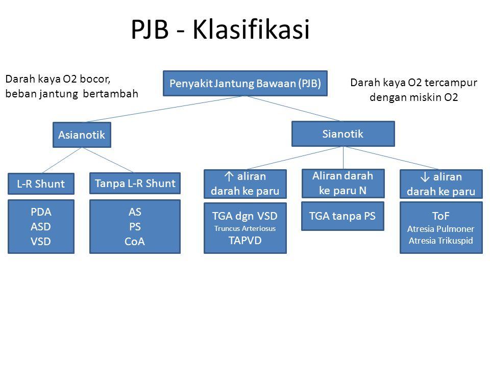 PJB - Klasifikasi Darah kaya O2 bocor, beban jantung bertambah