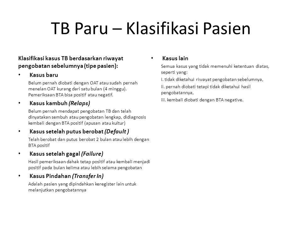 TB Paru – Klasifikasi Pasien