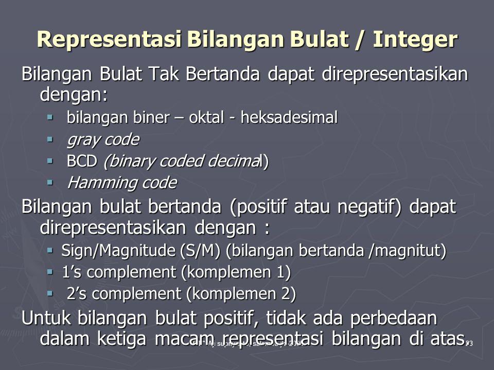 Representasi Bilangan Bulat / Integer
