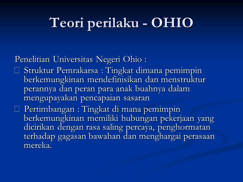 Teori perilaku - OHIO Penelitian Universitas Negeri Ohio :