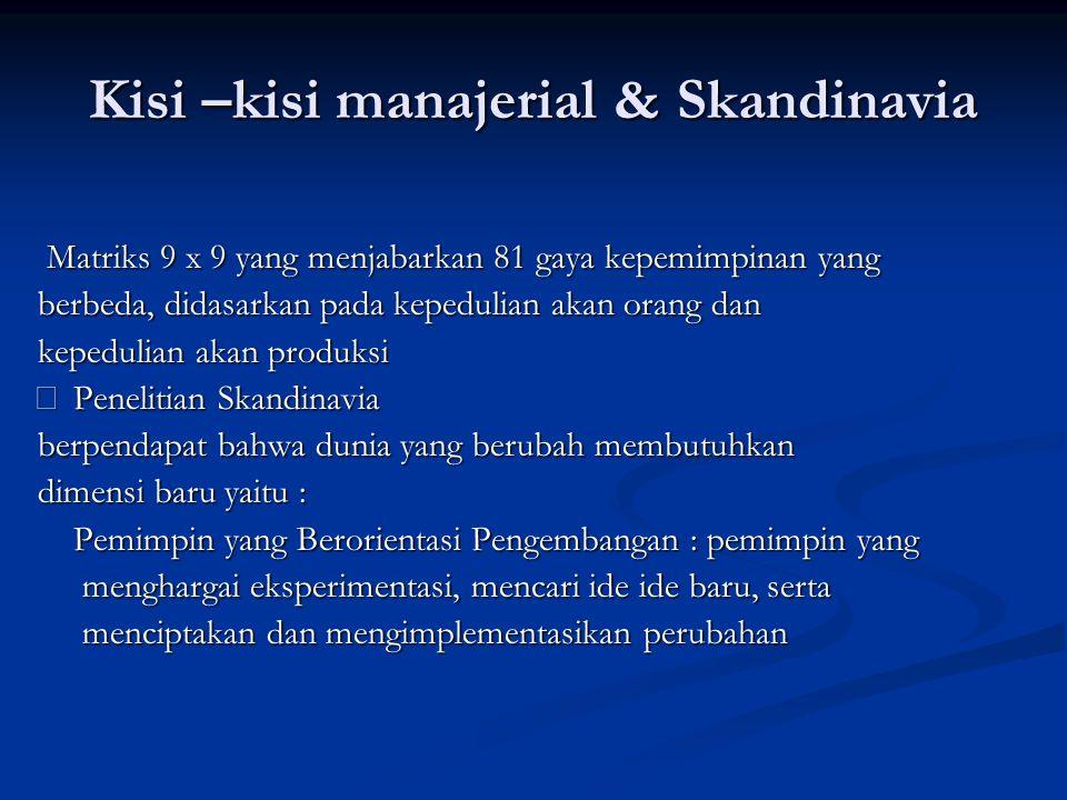 Kisi –kisi manajerial & Skandinavia