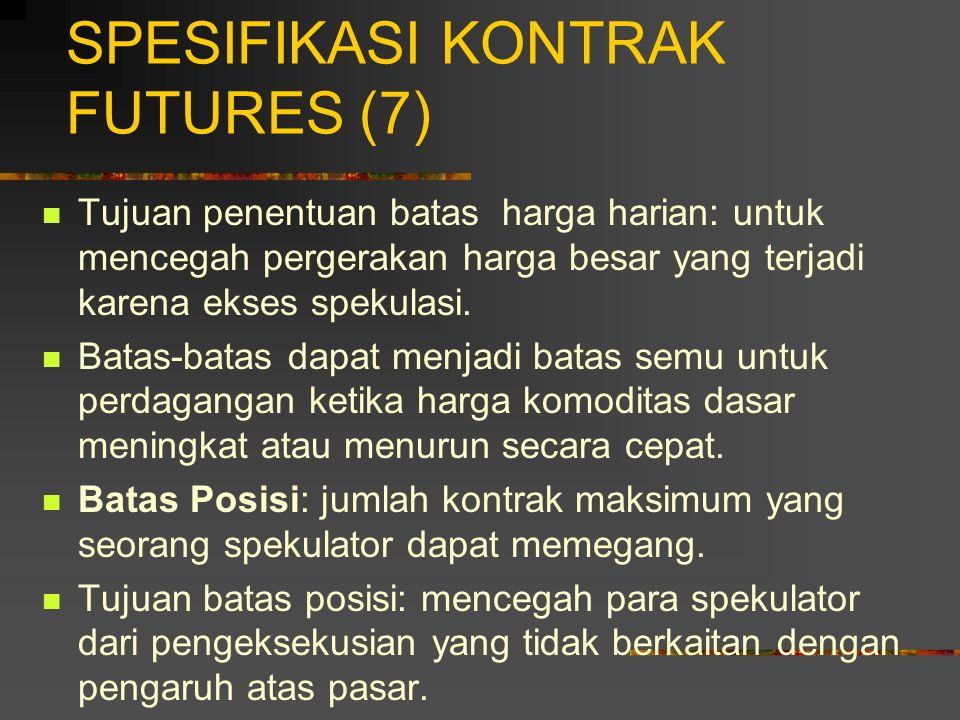 SPESIFIKASI KONTRAK FUTURES (7)