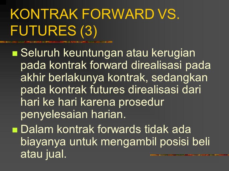 KONTRAK FORWARD VS. FUTURES (3)