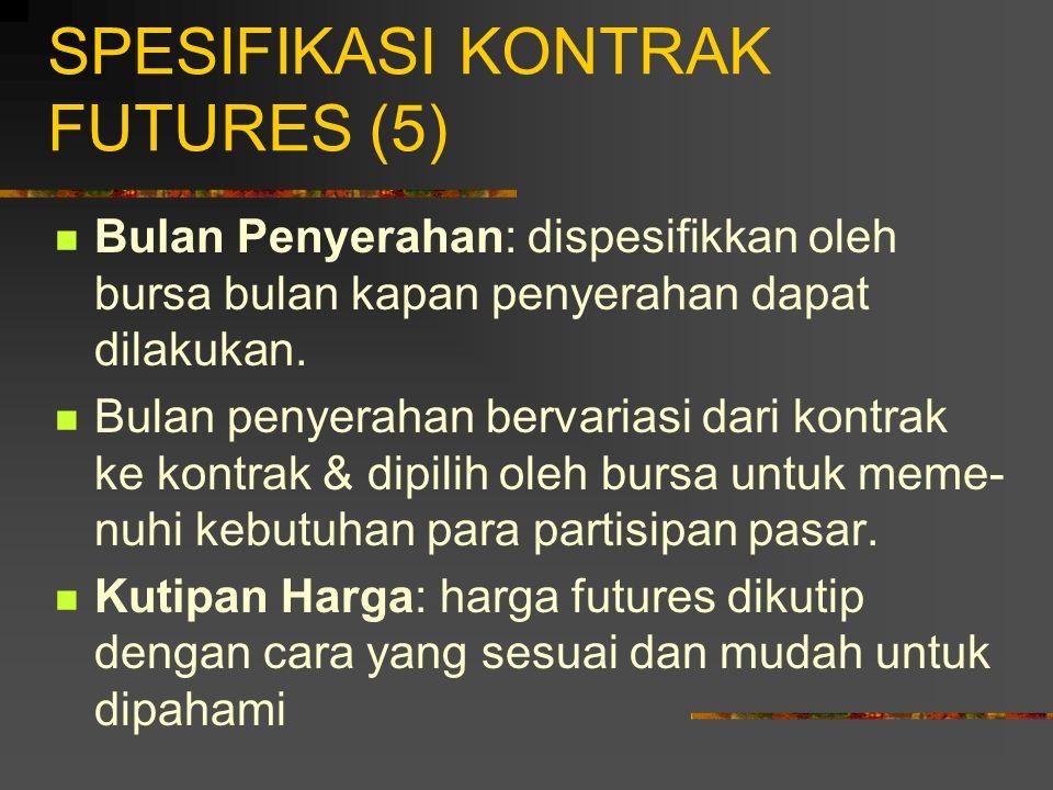 SPESIFIKASI KONTRAK FUTURES (5)