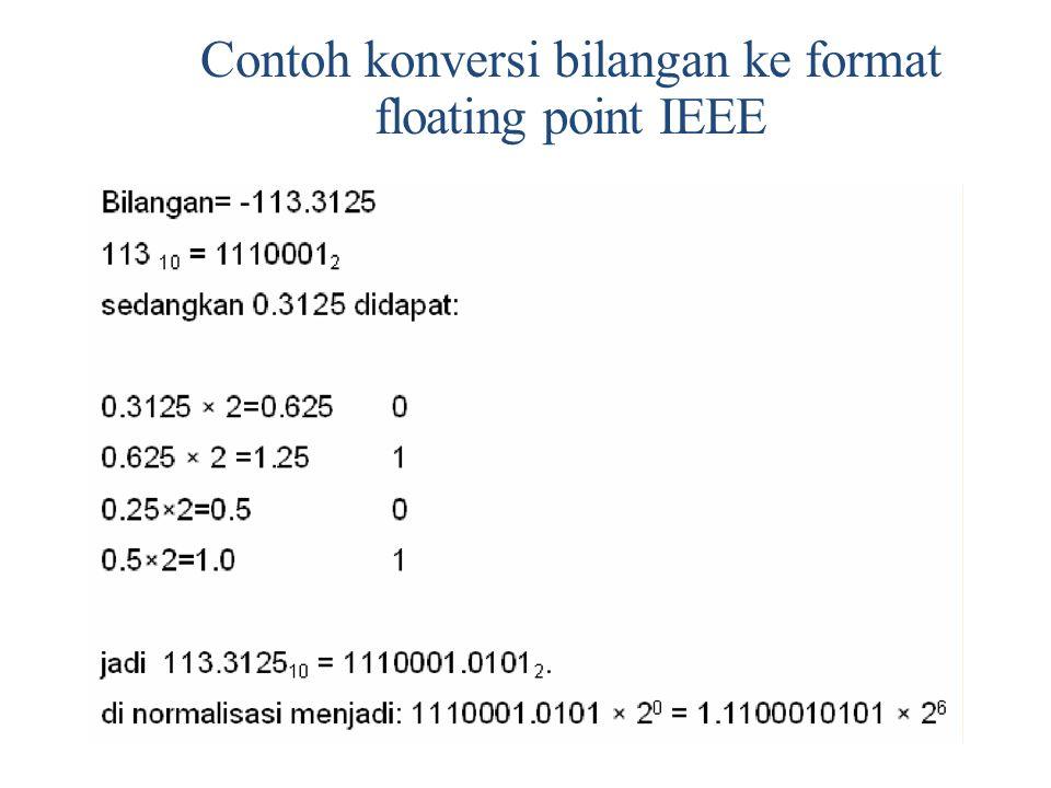 Contoh konversi bilangan ke format floating point IEEE