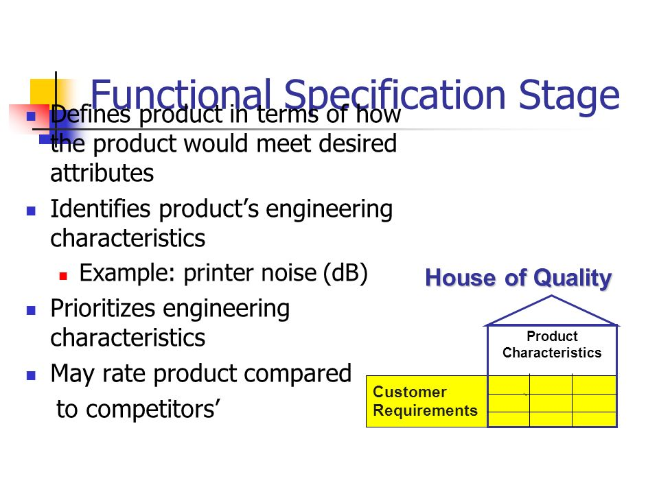 Functional Specification Stage