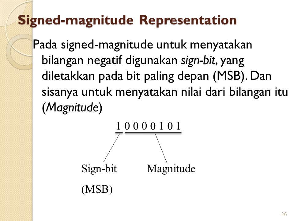 Signed-magnitude Representation