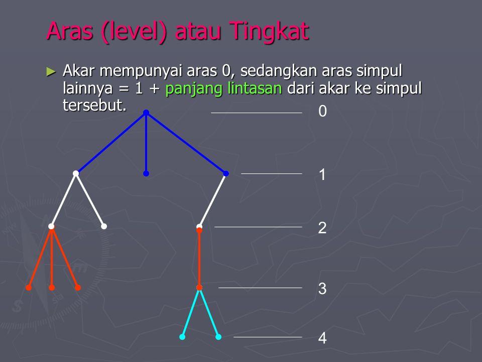 Aras (level) atau Tingkat