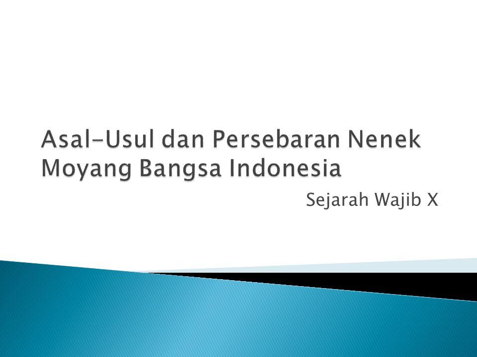 Asal-Usul dan Persebaran Nenek Moyang Bangsa Indonesia