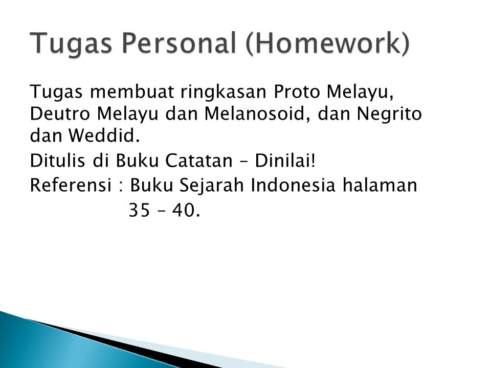Tugas Personal (Homework)