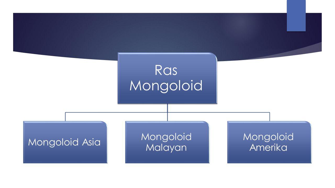 Ras Mongoloid Mongoloid Asia Mongoloid Malayan Mongoloid Amerika