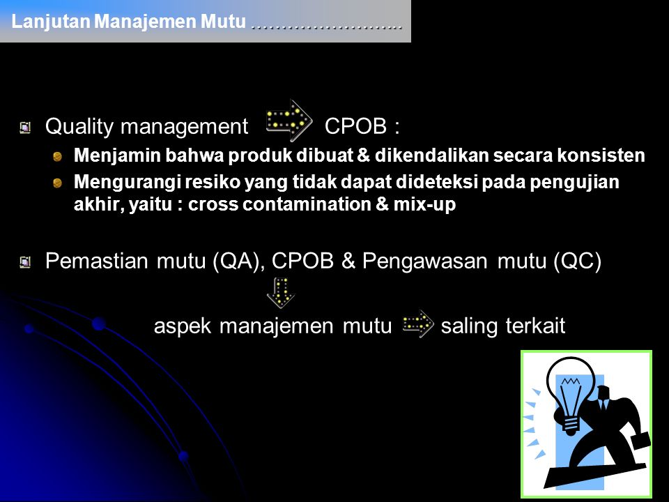 Quality management CPOB :