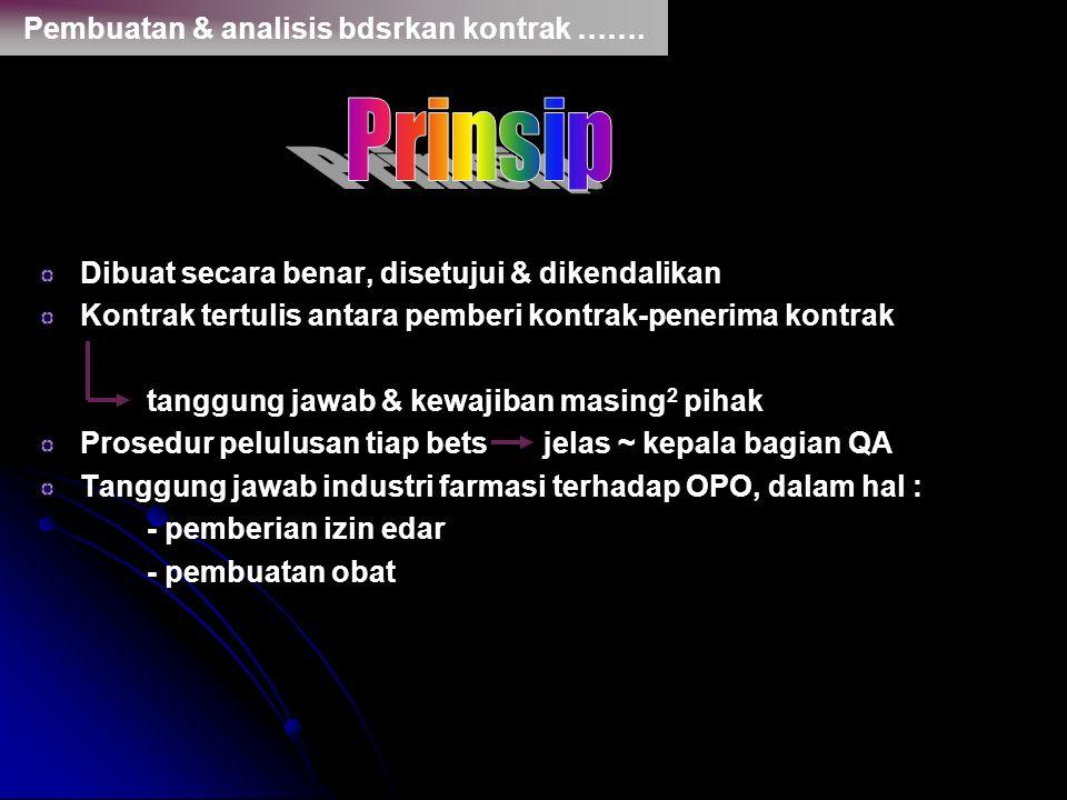 Prinsip Pembuatan & analisis bdsrkan kontrak …….