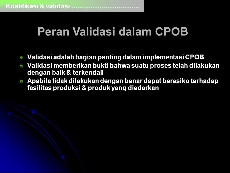 Peran Validasi dalam CPOB