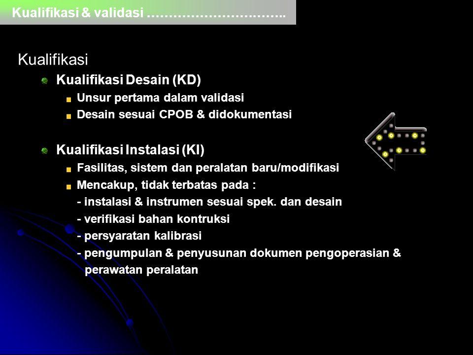 Kualifikasi Kualifikasi & validasi …………………………..