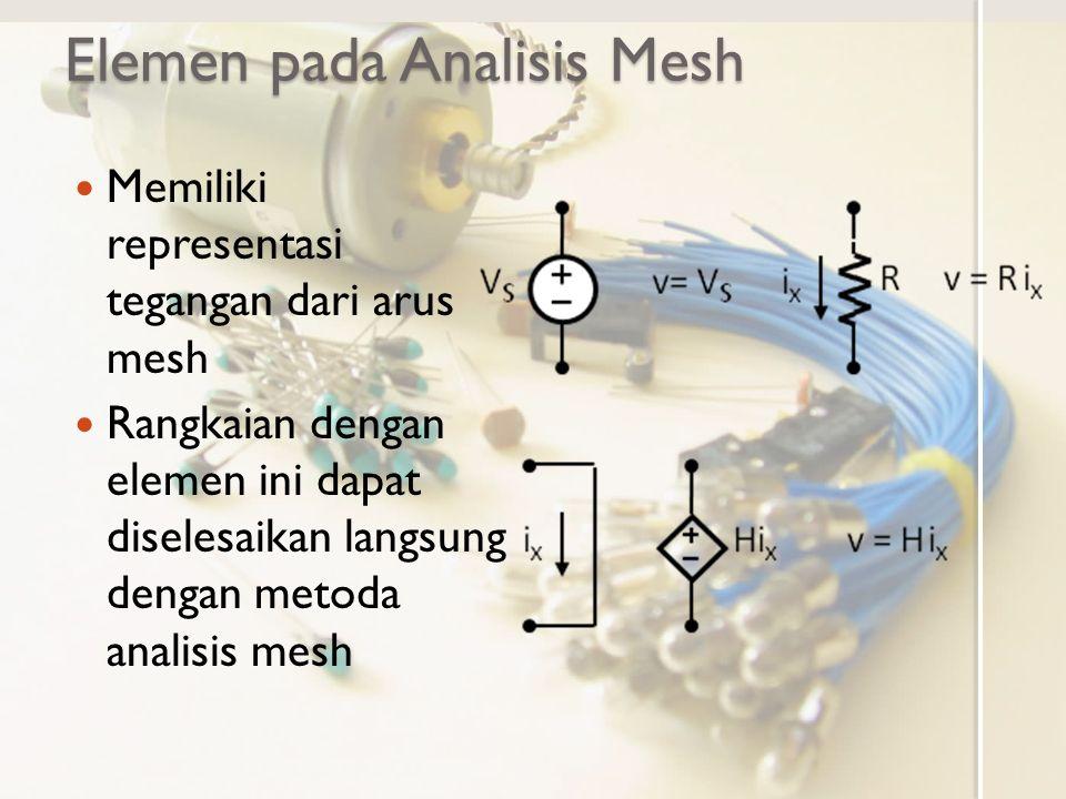 Elemen pada Analisis Mesh