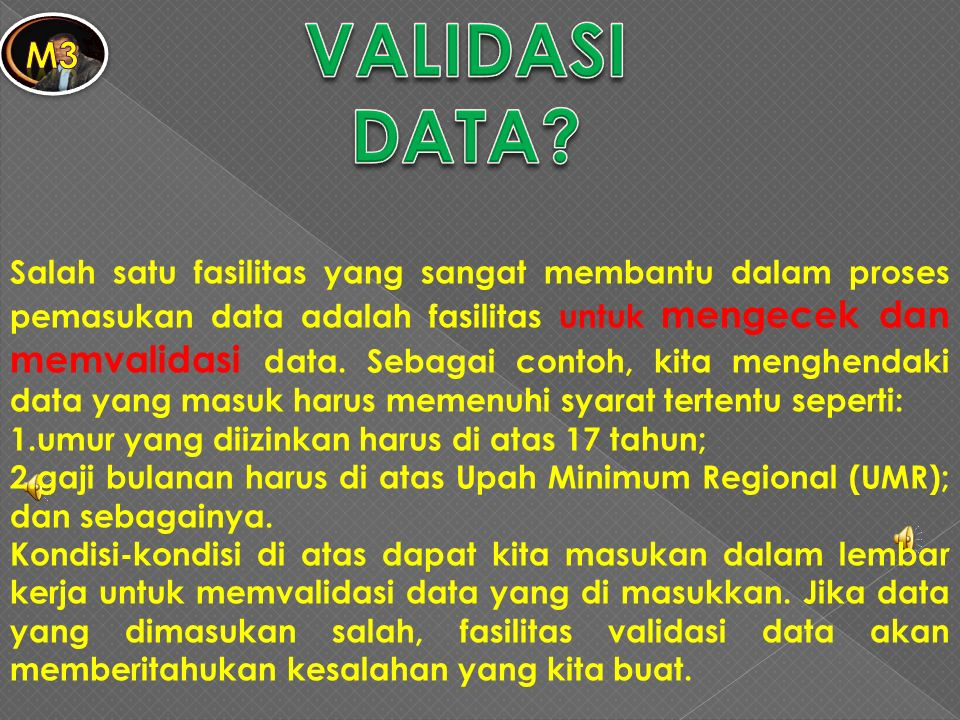 VALIDASI DATA m3.