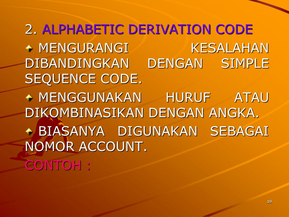 2. ALPHABETIC DERIVATION CODE