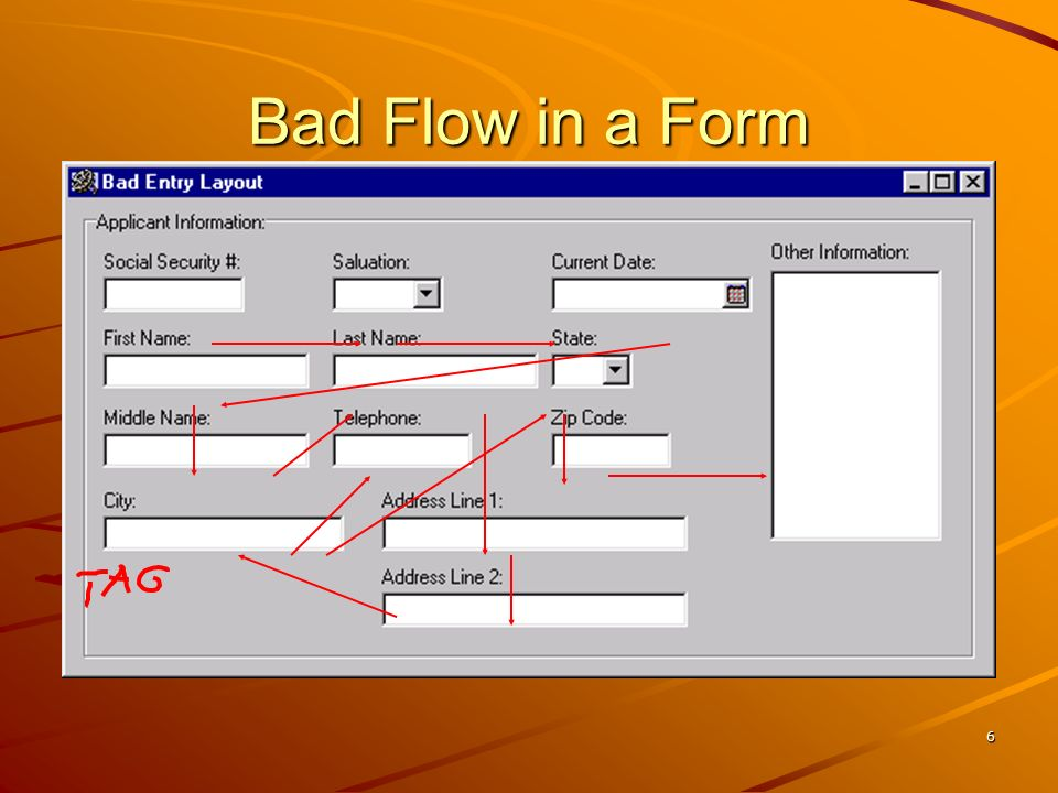 Bad Flow in a Form No additional notes.