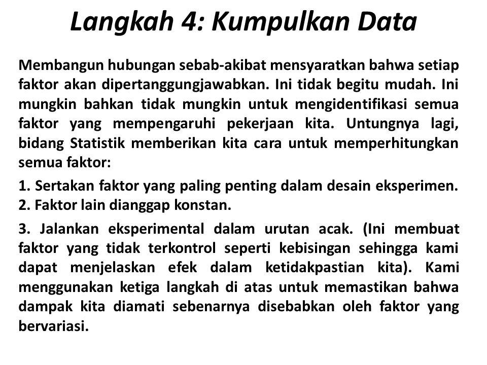 Langkah 4: Kumpulkan Data