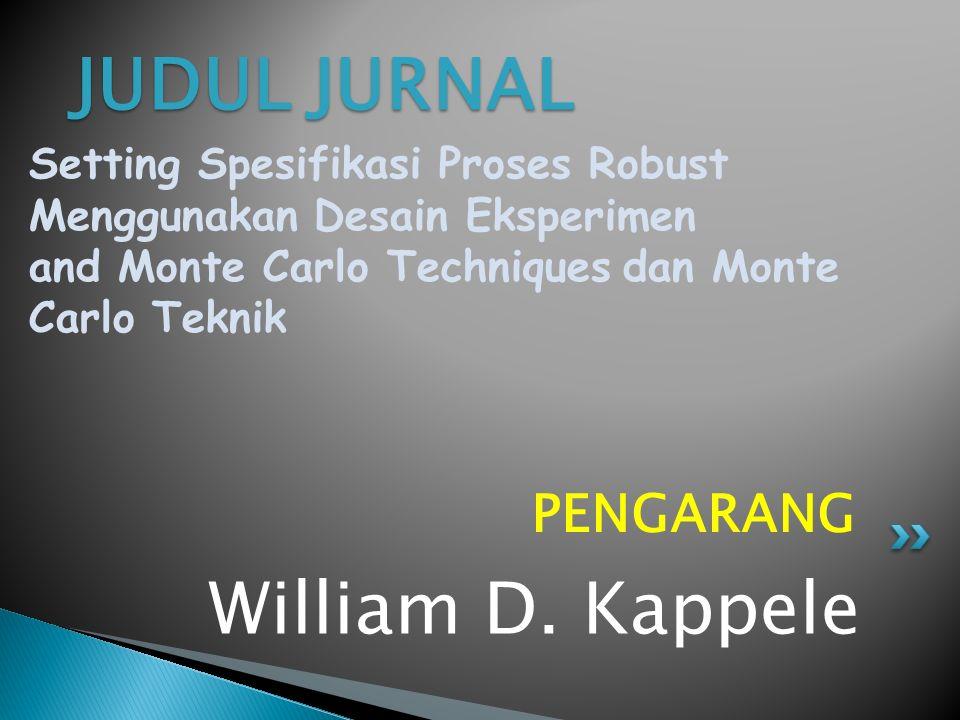 JUDUL JURNAL William D. Kappele PENGARANG