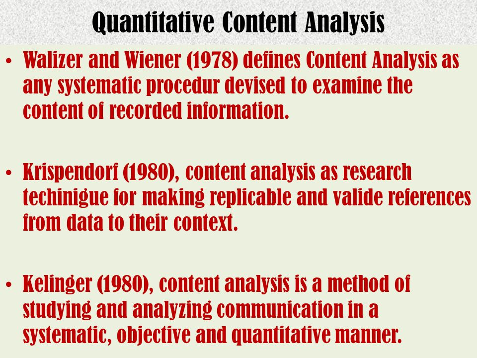 Quantitative Content Analysis