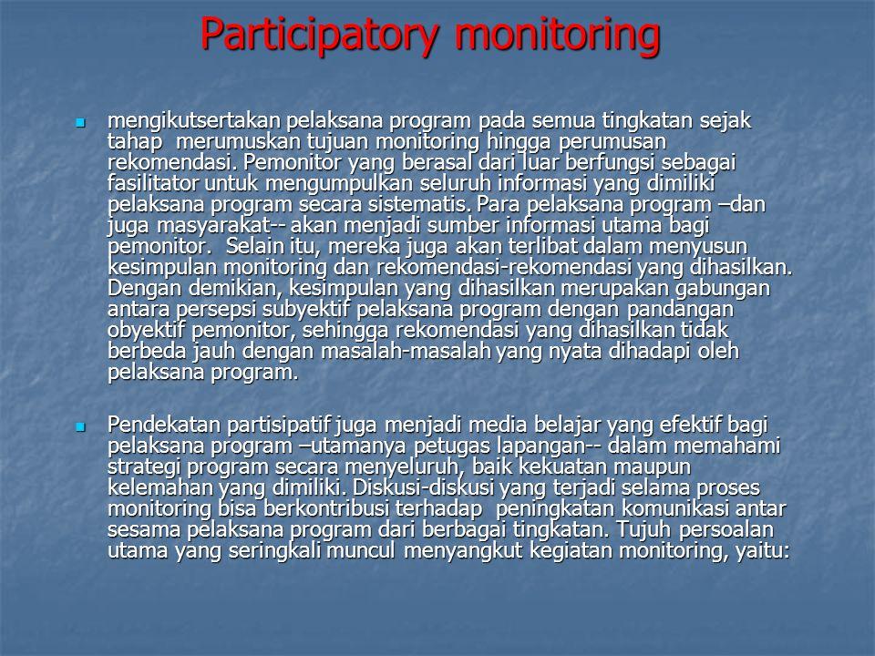 Participatory monitoring