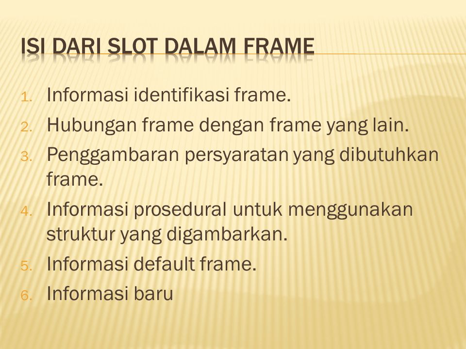 Isi dari slot dalam frame