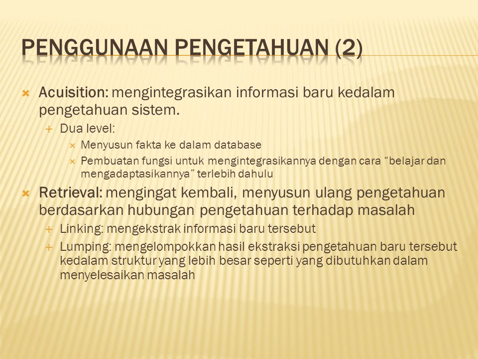 Penggunaan Pengetahuan (2)