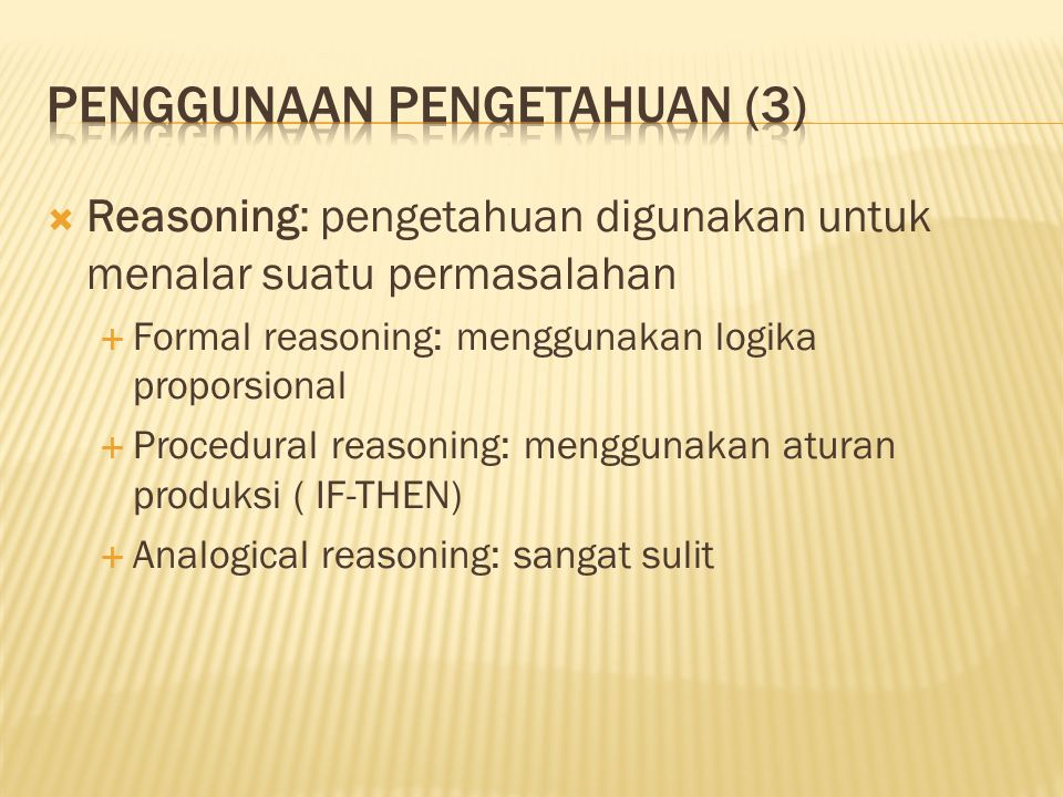 Penggunaan Pengetahuan (3)