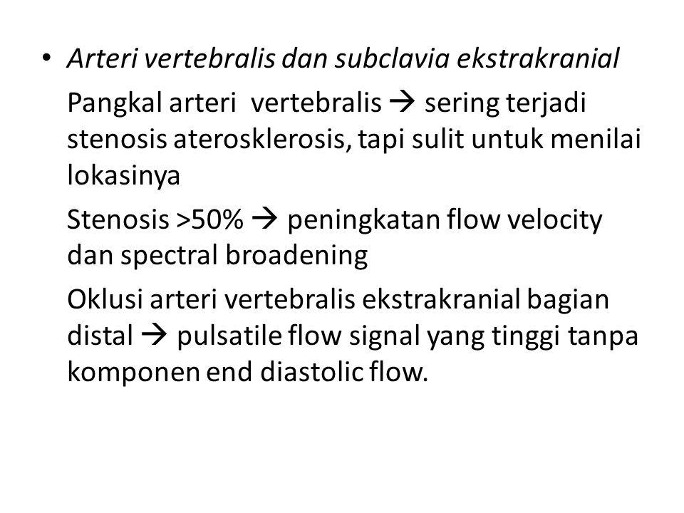 Arteri vertebralis dan subclavia ekstrakranial