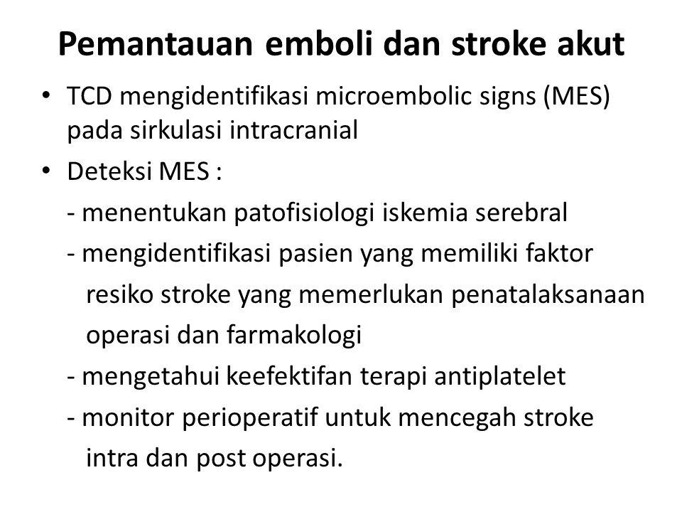 Pemantauan emboli dan stroke akut