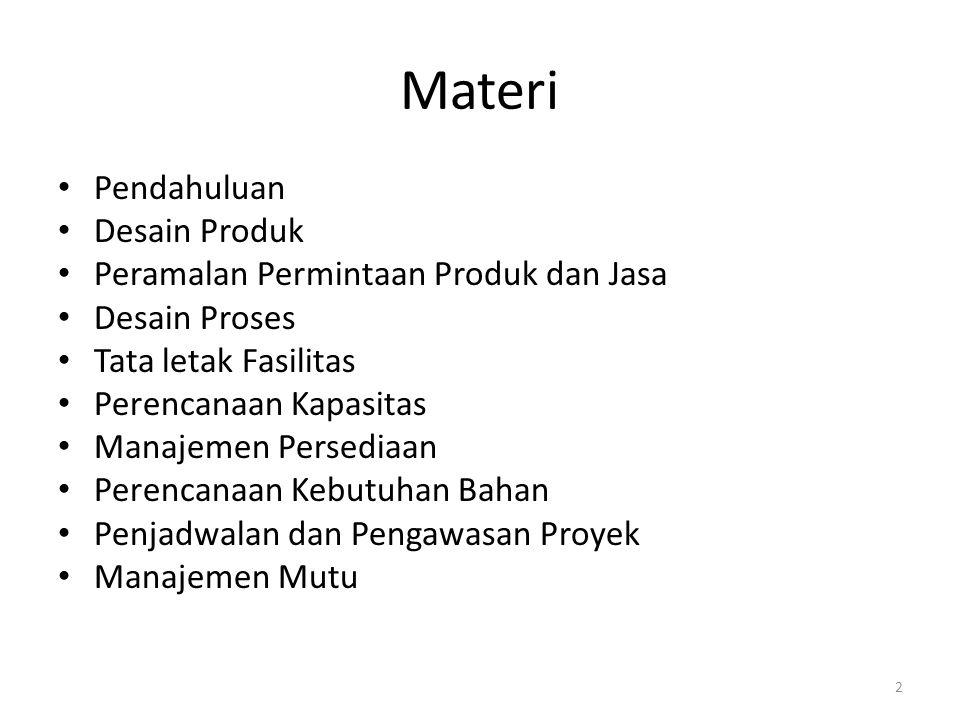 Materi Pendahuluan Desain Produk Peramalan Permintaan Produk dan Jasa