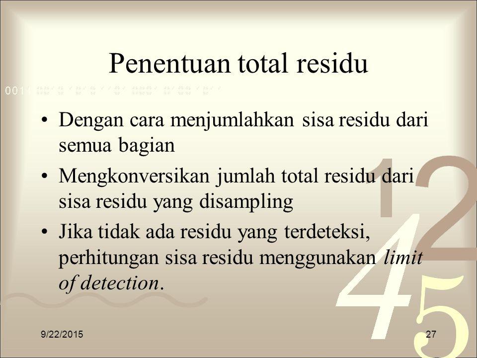 Penentuan total residu