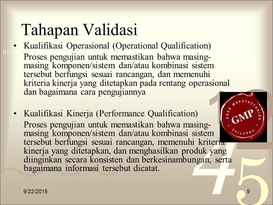 Tahapan Validasi Kualifikasi Operasional (Operational Qualification)