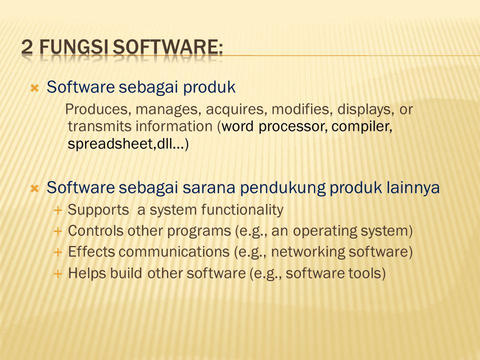 2 fungsi software: Software sebagai produk