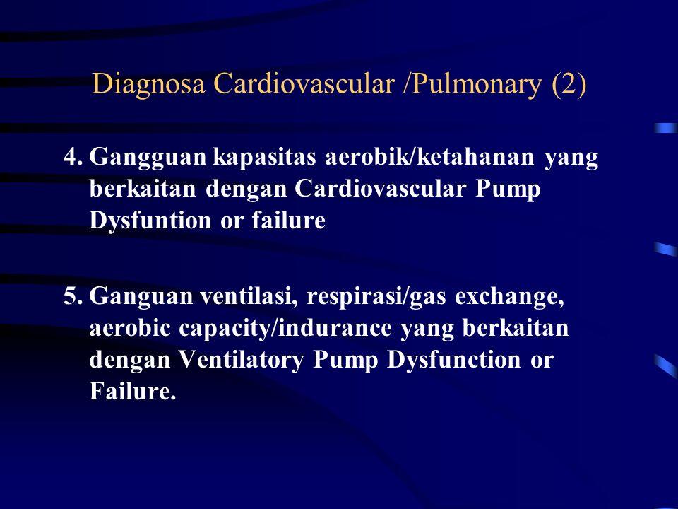 Diagnosa Cardiovascular /Pulmonary (2)