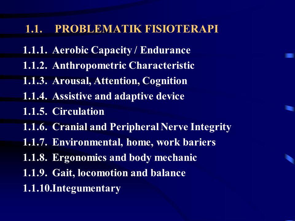 1.1. PROBLEMATIK FISIOTERAPI
